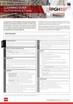 Brochure Thumbnail - Cleaning Guide PGH Bricks